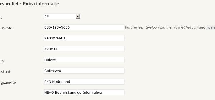 WordPress gebruikersprofiel uitbreiden