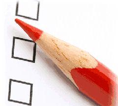 Met potlood stemmen tijdens de verkiezingen
