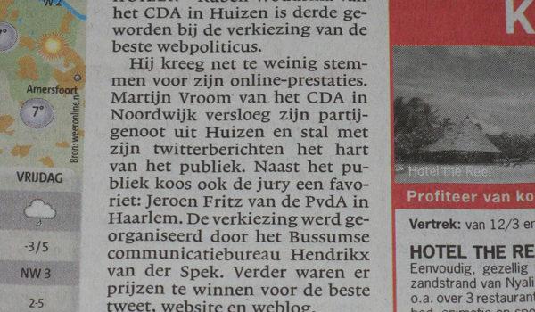 Webpoliticus, bezoek Balkenende en ochtendgroeten