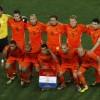 Groepsfoto Nederlands elftal tijdens de WK Finale 2010 in Zuid-Afrika