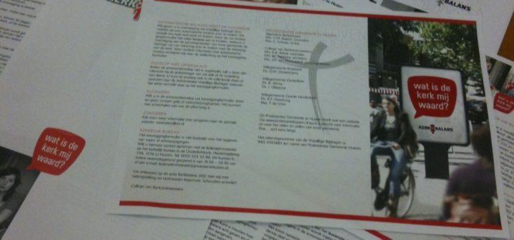 Actie Kerkbalans 2012 van start in Huizen