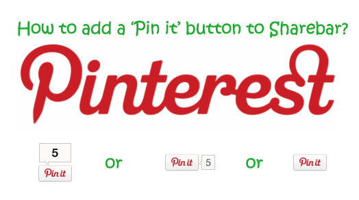 How to add Pinterest to WordPress plugin Sharebar?