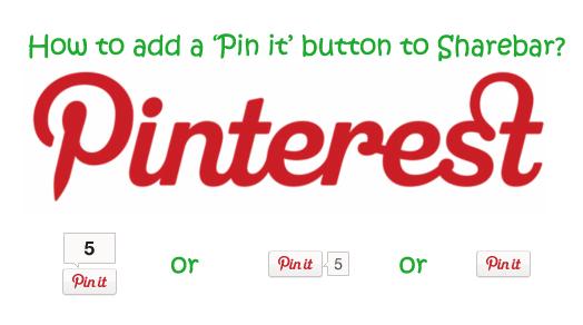How to add Pinterest to WordPress plugin Sharebar?