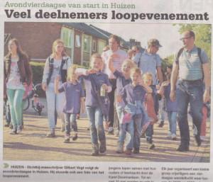 De Parel groep 3 op de voorpagina van het Nieuwsblad voor Huizen.
