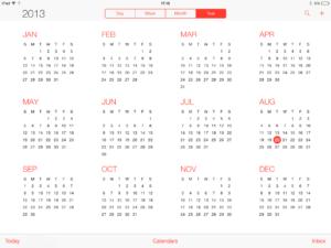 iPad agenda op iOS7