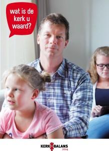 ondersteunende poster voor de actie kerkbalans 2014.