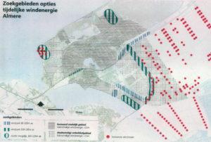 Bovenstaande illustratie geeft aan welke locaties Almere op het oog heeft.