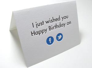 Traditionele verjaardagskaart in Facebook ontwerp