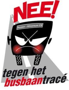 Het logo van comité Busbaan NEE!
