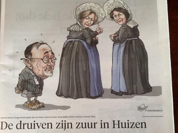 CDA, D66, Groenlinks, Christenunie en SGP vormen coalitie in Huizen