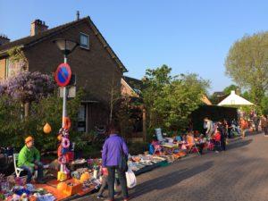 Onze locatie/plek op de kleedjesmarkt in Huizen.