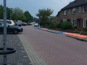 Diverse locaties op de Gooilandweg waren de dag voorafgaande aan de kleedjesmarkt reeds gereserveerd.