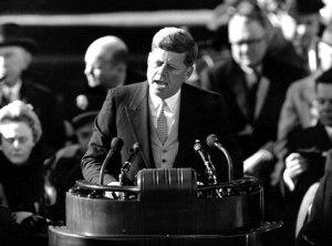 Inauguratiespeech van John F. Kennedy in 1961.
