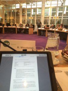Uitzicht vanuit de positie van raadslid Ruben Woudsma