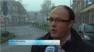 Screenshot televisie-interview met RTV Noord-Holland (Joost Lammers) over vuurwerkmeldpunt