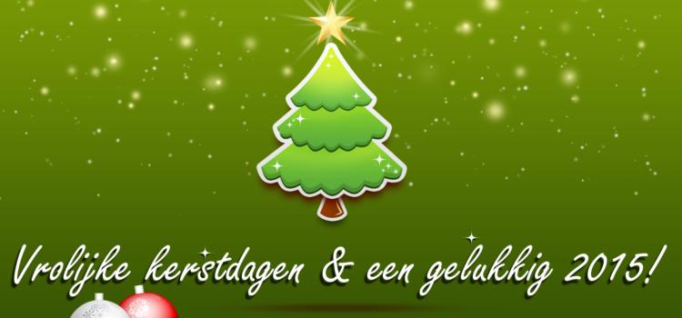 Vrolijke feestdagen en een goed 2015!