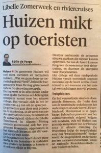 Verslag Gooi en Eemlander over de toespraak van burgemeester Hertog.