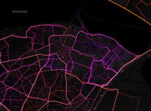 RunKeeper routes in Huizen goed zichtbaar