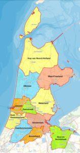 Alle regio's van de provincie Noord Holland