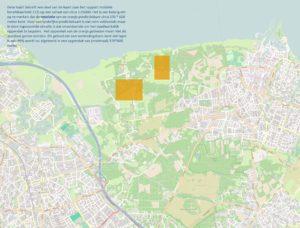 Detailkaart met mobiele bereikbaarheid 112 gemaakt door Agentschap Telecom.