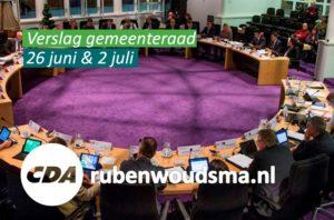 Verslag van de gemeenteraad van 26 juni en 2 juli 2015.