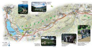 Mooie fietsroute vanaf Pergine tot Borgo (en eventueel tot Tezze of Bassano)