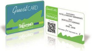 De Trentino Guest card zoals verkrijgbaar bij de receptie van San Cristoforo.