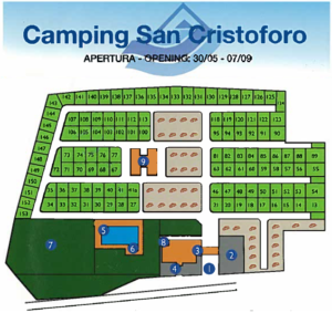 De plattegrond van San Cristoforo.