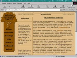 Vierde versie van mijn website (uit 1999) gebouwd tijdens studie over genealogie Woudsma.