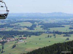 Op de Alpspitze in Nesselwang heb je een prachtig uitzicht over de Allgau