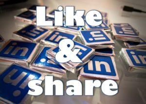 Vraag connecties om jouw berichten te liken en te delen.