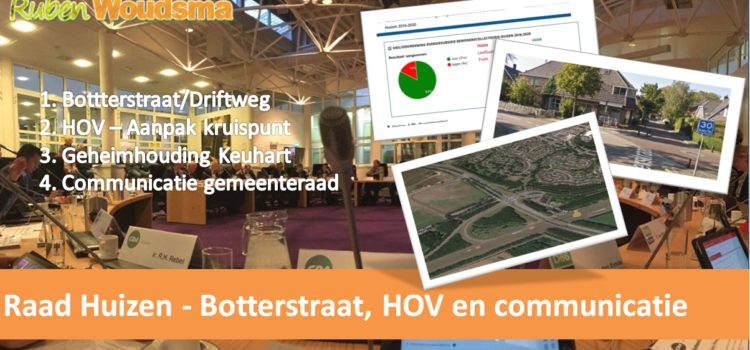 Gemeenteraad – Botterstraat, HOV en communicatie