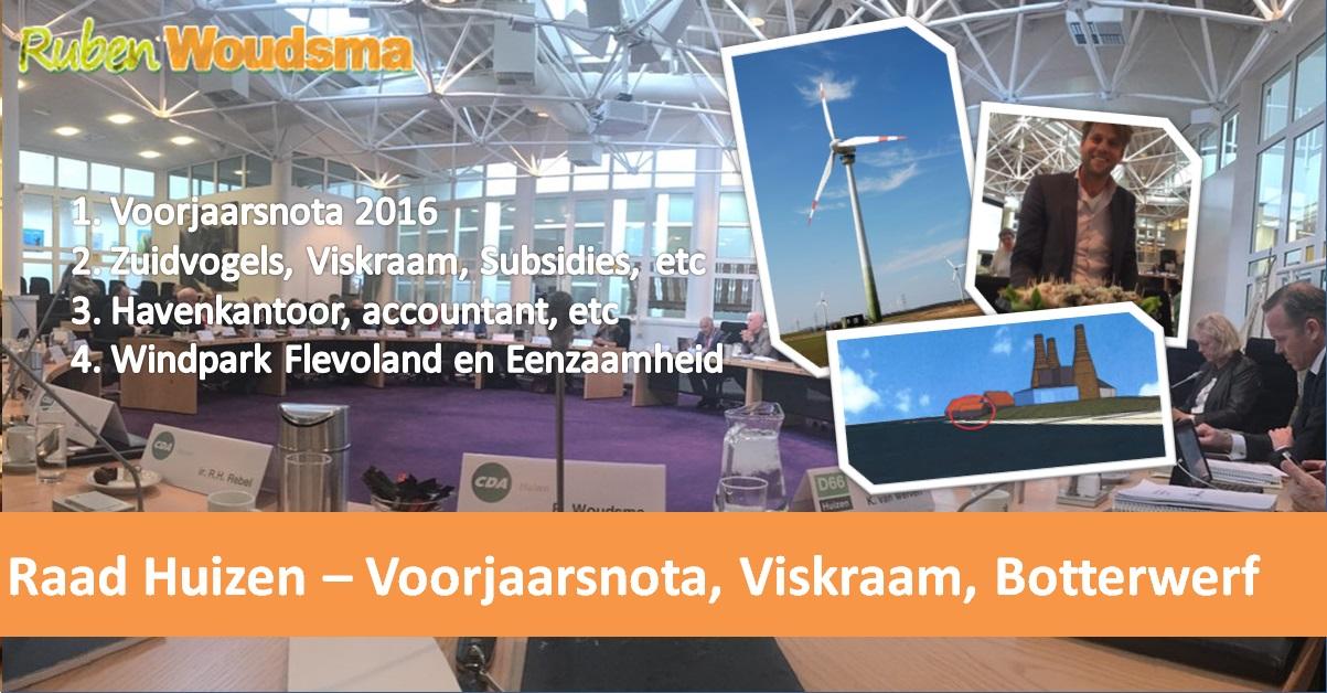 Voorjaarsnota/gemeenteraad – Viskraam, Botterwerf en positief nieuws