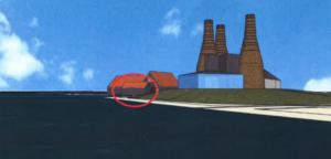 schetstekening Botterwerf met havenkantoor