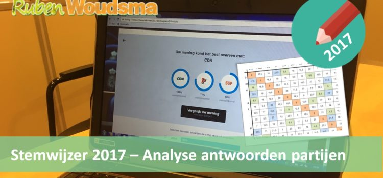Stemwijzer 2017 – Analyse antwoorden partijen op stellingen