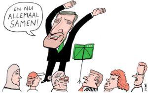 Cartoon van Bas van der Schot - Sybrand Buma en Wilhelmus