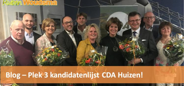 Plek 3 kandidatenlijst CDA Huizen!