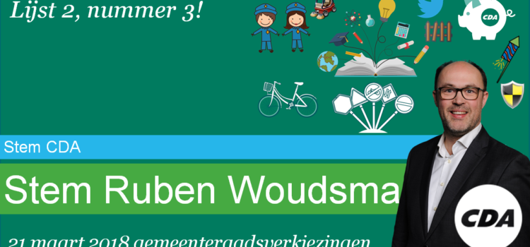 Stem CDA, stem Ruben Woudsma!