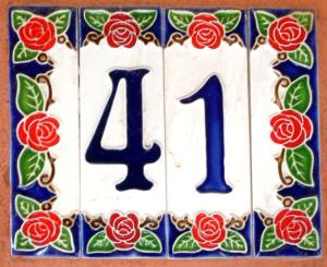 Afbeelding van huisnummer met getal 41.