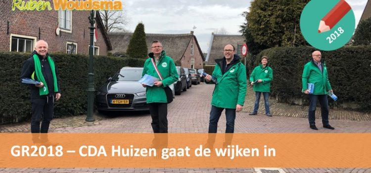 CDA Huizen komt naar de inwoners toe!
