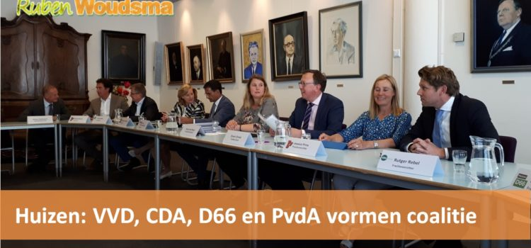 VVD, CDA, D66 en PvdA vormen coalitie in Huizen